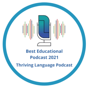 Thriving Language Podcast badge